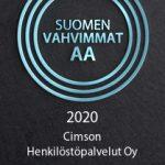 Suomen vahvimmat AA -sertifikaatti